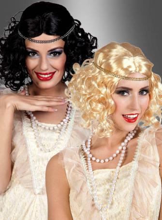 20er Jahre Showgirl Perücke mit Stirnband