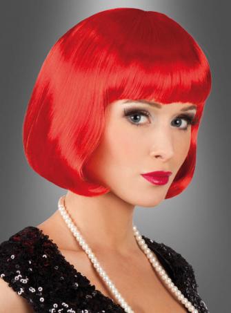 Rote Pagenschnitt Frisur