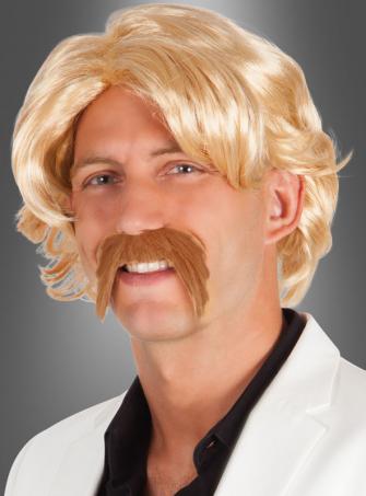Johnny Perücke blond mit Bart