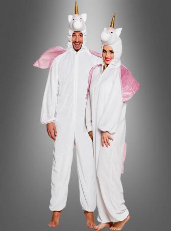 Einhorn Kostüm Erwachsene in weiß