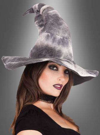 Grey Witch Hat