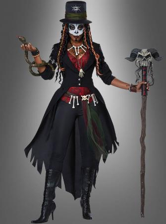 Voodoo Zauberin Kostüm für Damen