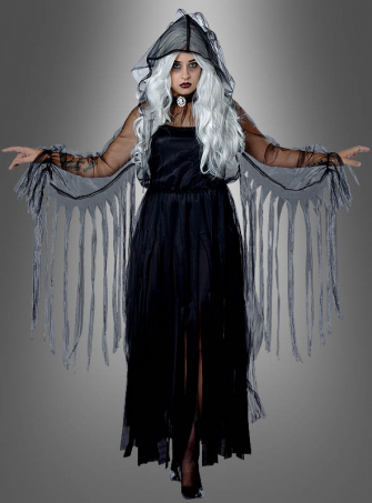 Spukgestalt XXL schwarzes Kleid Halloween