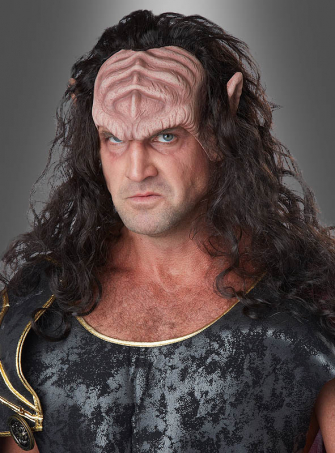Fantasy Warlord Forehead Mask with Hair