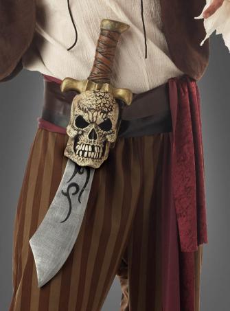 Säbel mit Totenkopf-Gürtel