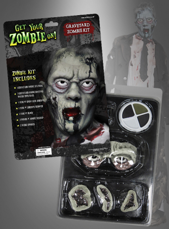 Zombie Makeup Set mit Latexaugen