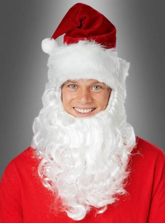 Santas Mütze mit Bart