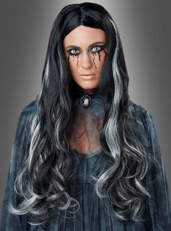 Bloody Mary Long Hair Wig black grey