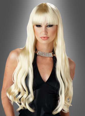 Serpentine wig blonde long