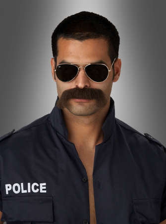 The man moustache police