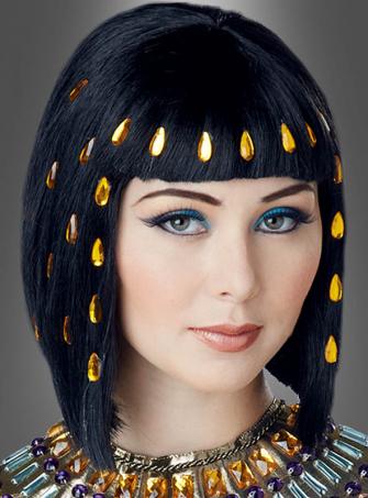 Kleopatra Perücke mit Strass