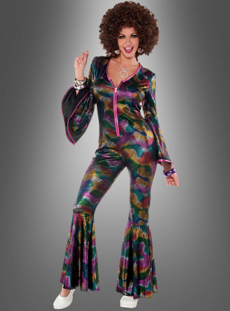 Multicolor Disco Jumpsuit for Women