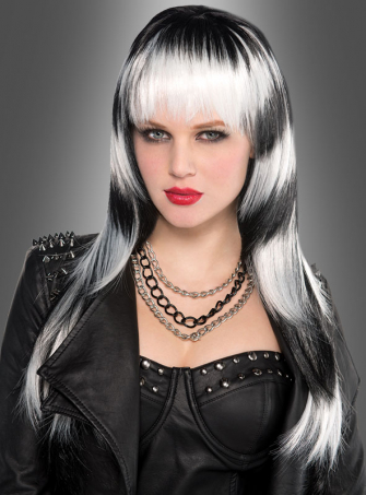 Black & White 80s Wig Women