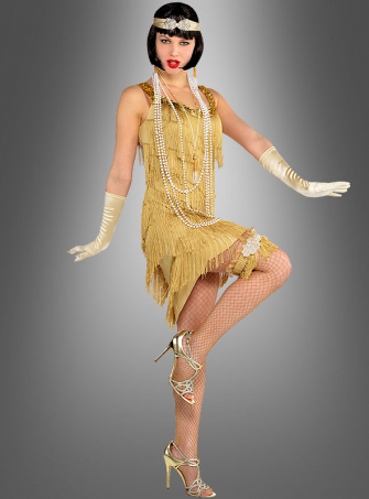 Flapperkleid gold für Damen