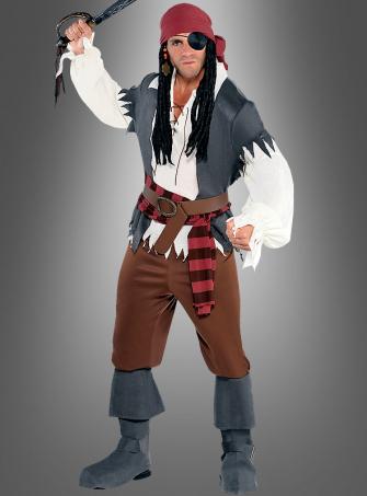 Pirat Captain Castaway Herrenkostüm