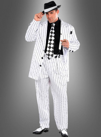 Gangster Costume white
