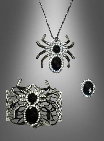 Spider Jewelry Set three parts