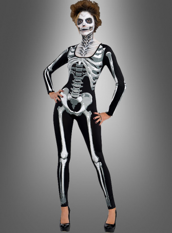 Skeleton Catsuit Women