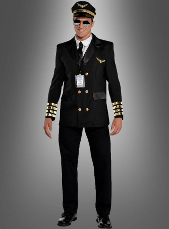 Pilot Uniform for Men black