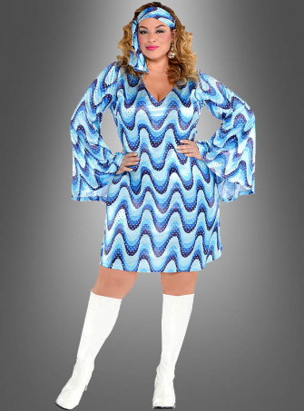Plus Size Disco Lady Dress Bluebird