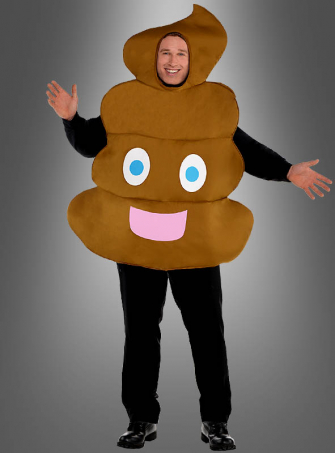 Emoji Pooper Costume XXL