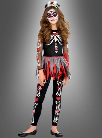 Day of the Dead Children Costume Rosita