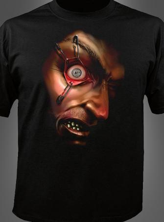 Digitales Shirt mit bewegtem Auge