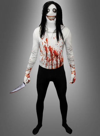 Jeff the Killer Morphsuit Halloween Costume