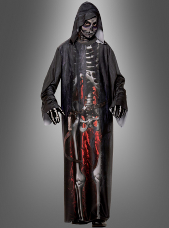 Skelett Kapuzenrobe Kinderkostüm