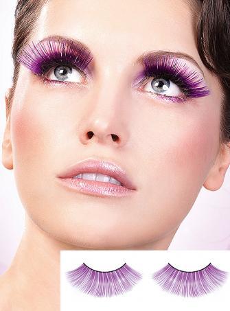 Magischer Abend künstliche Wimpern Baci lila-silber