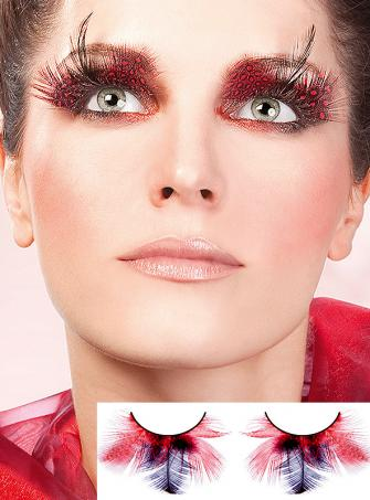 Ruby Fire red feather Eye Lashes