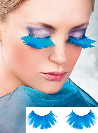 Turquoise Fake Feather Eye Lashes