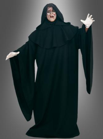 DELUXE schwarze Robe Mantel XXL