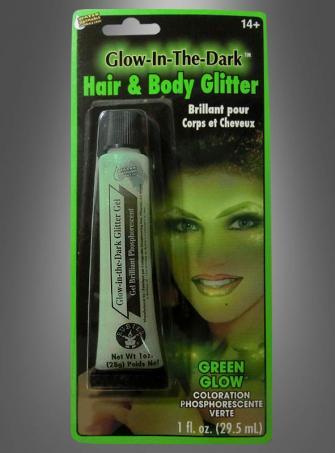 Green Glow Glitter Gel
