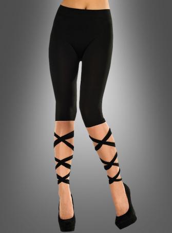 Sexy Leggings mit Bändern