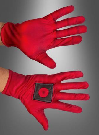 Deadpool Gloves Red Adult
