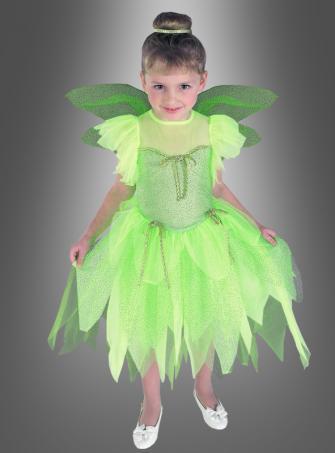 Grünes Feenkostüm für Kinder
