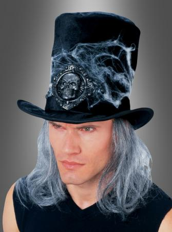 Black Cobweb Hat with hair
