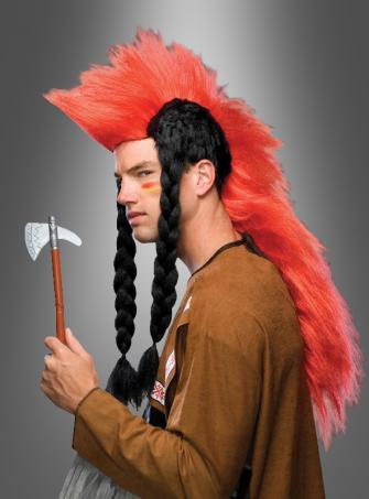 Irokese Punk Indianer Perücke