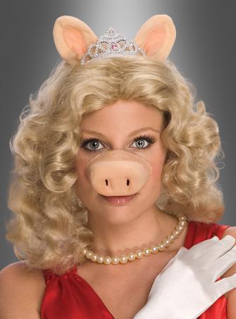 Miss Piggy Perücke und Zubehörset Muppets