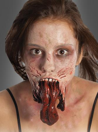 Horror Applikation Zunge aus The Walking Dead
