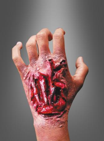 Aufgerissene Hand Latex Wunde