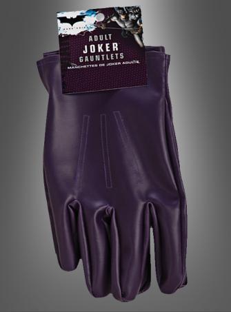 Handschuhe für Joker Kostüm Erwachsene The Dark Knight