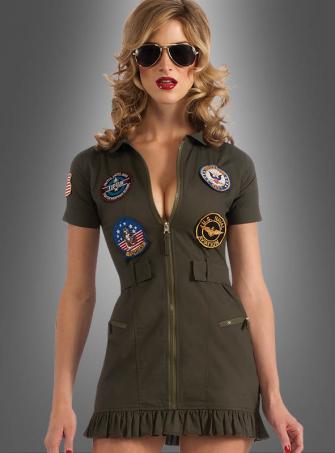 Top Gun Kleid und Brille