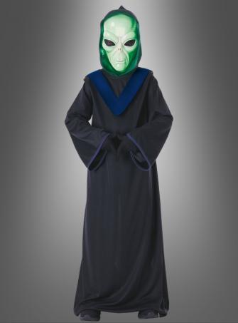 Alien Commander Kostüm 3-teilig mit Leuchtmaske