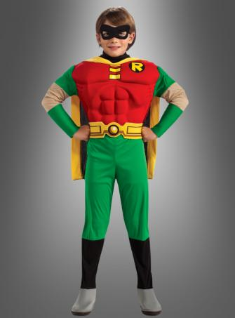 Kinder Muskel-Kostüm Robin