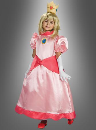Princess Peach Deluxe Super Mario Children Costume