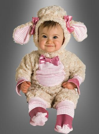 Pink Lamb baby girl costume No