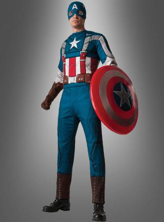 Klassischer Captain America Muskelkostüm XL-XXL 52-54