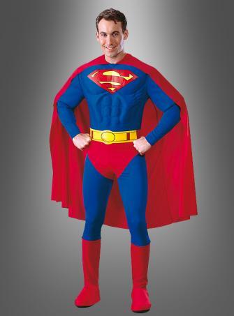 Deluxe Superman Kostüm mit Muskeln